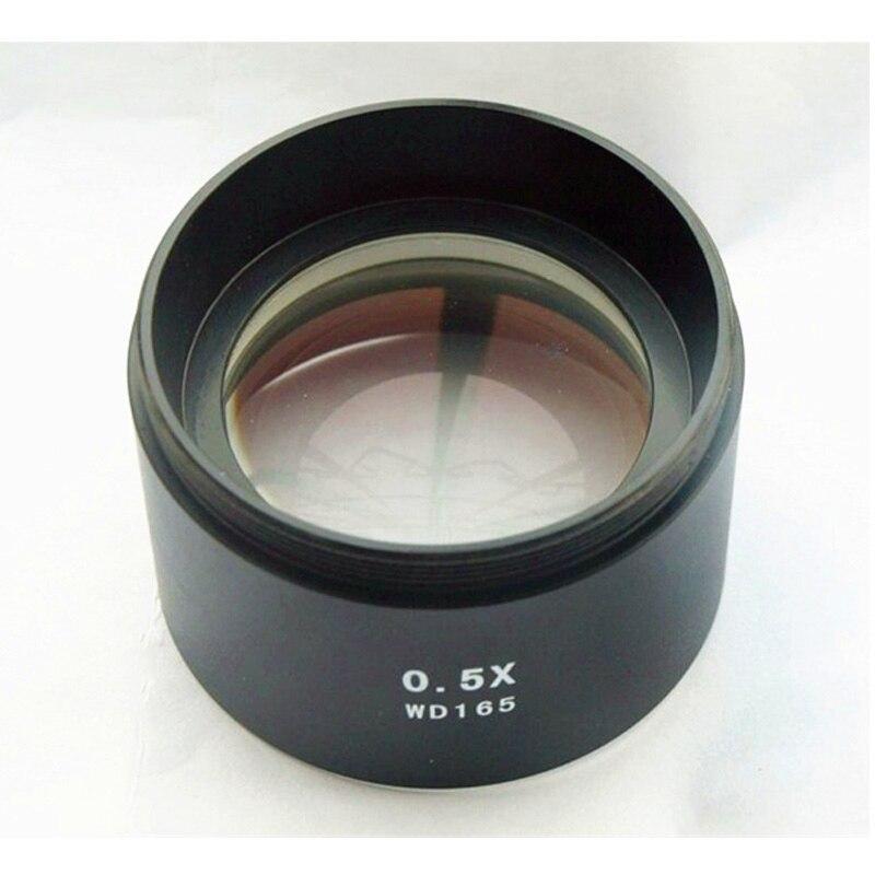 WD165 0.5X Stereo Microscopio Ausiliario Lente Obiettivo Lente di Barlow con 1-7/8 (48 millimetri) Filo Di MontaggioWD165 0.5X Stereo Microscopio Ausiliario Lente Obiettivo Lente di Barlow con 1-7/8 (48 millimetri) Filo Di Montaggio