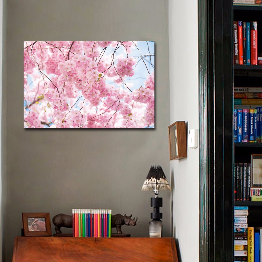New Fashion Cherry Blossoms Flower Picture Print On Canvas