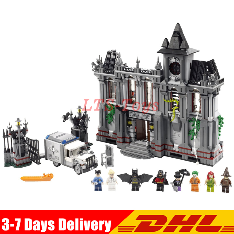 Lepin 07044 1685Pcs Super Hero The Batman Asylums Set Children Educational Building Blocks Bricks Toys Gift LegoINGLY 10937 new 1685pcs lepin 05036 1685pcs star series tie building fighter educational blocks bricks toys compatible with 75095 wars