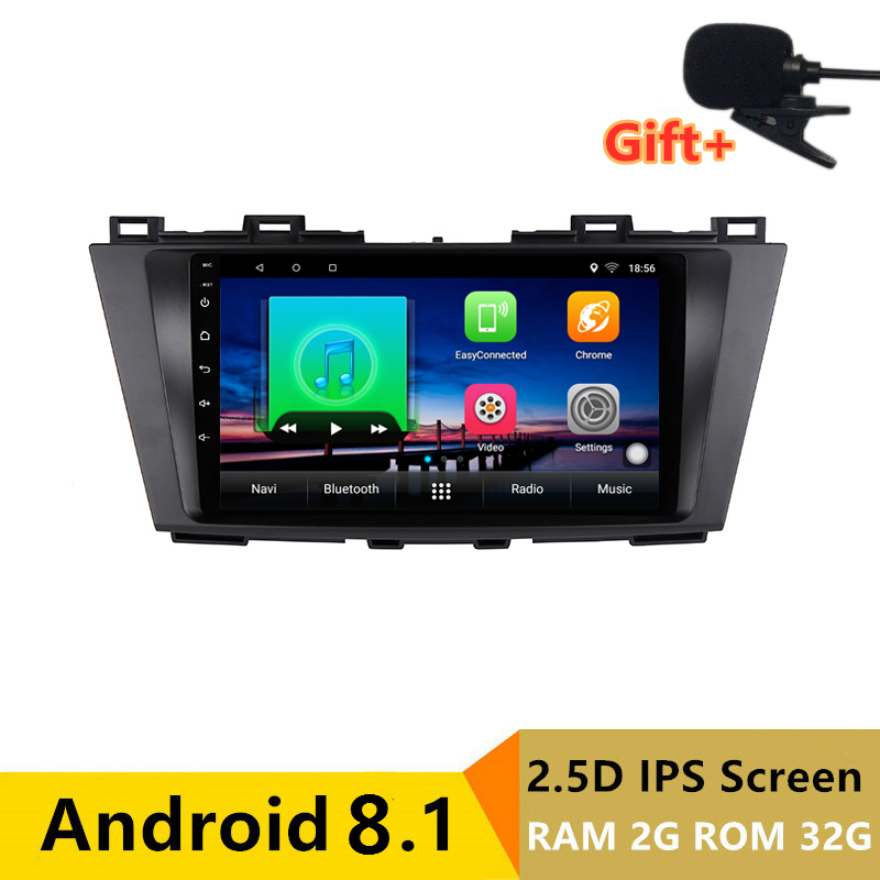 "9"" 2+32G 2.5D IPS Android 8.1 Car DVD Multimedia Player GPS for Mazda 5 2009 2010 2011 2012 13 audio car radio stereo navigation"