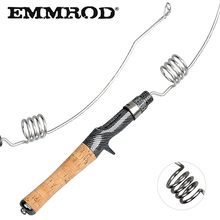 EMMROD Bait Casting Fishing Rod 57cm 200g CorkWood Handle Stainless Steel Portable short Personality fishing rod MQ