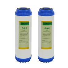 2 Pack of Granular Activated Carbon 10-inch GAC Water Filter Replacement for Under Sink and Reverse Osmosis System цена и фото