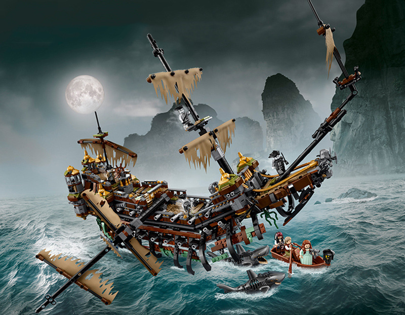 Bela 71042 2344pcs Silent Mary Building Blocks Bricks Toys For Children Compatible legoing Pirates Caribbean 71042 Gitft new lepin 16009 1151pcs queen anne s revenge pirates of the caribbean building blocks set compatible legoed with 4195 children