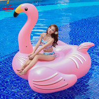 1.9m pvc flamingo inflatable rider Summer Lake Swimming Water Lounge Pool Kid Giant Rideable Swim flamingo