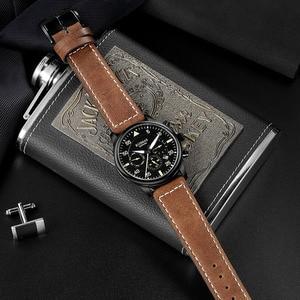 Image 3 - RUIMAS גברים אופנה עור אמיתי רצועת שעון אוטומטי עסקים מכאני שעונים זכר שעון שעוני יד Erkek Kol Saati