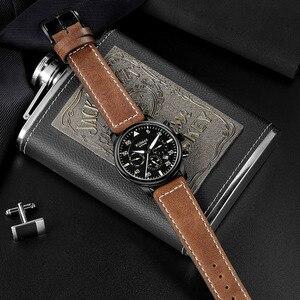 Image 3 - Ruimas Mannen Mode Lederen Band Horloge Automatische Business Mechanische Horloges Mannelijke Klok Horloges Erkek Kol Saati