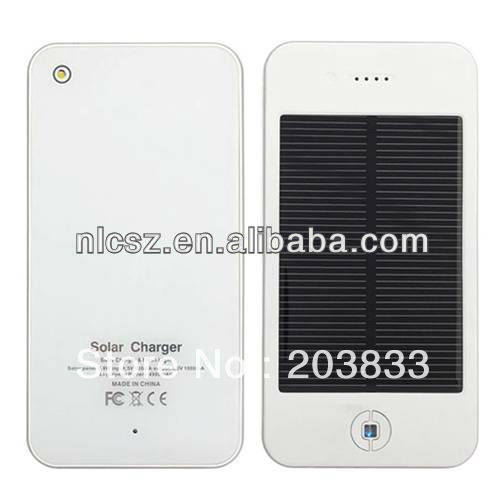 free shipping fashionable 4000mAh solar charger mobile phone external power bank