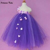 New Flower Fairy Girl Dress Tulle Tutu Dress Kids Birthday Party Wedding Bridesmaid Gowns Dresses For Children Princess Costume