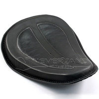 2015 Motorcycle Cushion Black Leather Solo Seat Fits For Harley Sportster XL883 1200 48 2004 2014