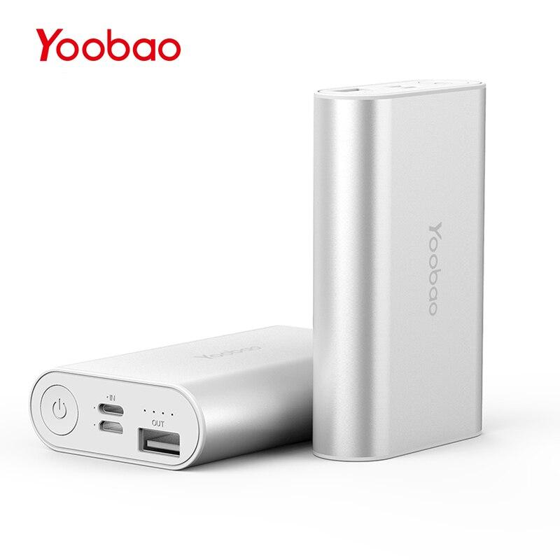 imágenes para SP6 Yoobao 6000 mAh Banco de la Energía de Bolsillo de Doble Entrada (Micro y Relámpagos) para el iphone Samsung Xiaomi Batería Externa Cargador de móvil