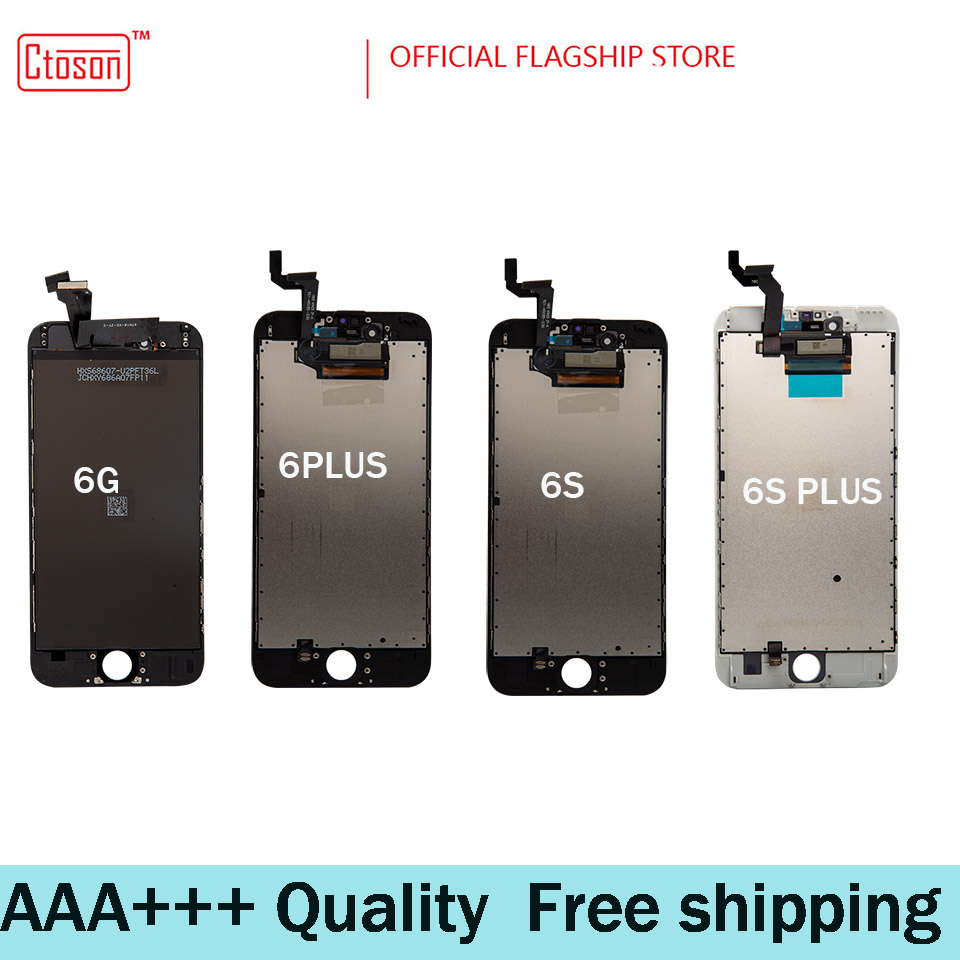 Ctoson White Grade AAA+++ LCD For iPhone 6 6S Plus Screen With Force Touch Screen iPhone7 7p 8 8p Display Replacement Assembly image