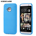 KISSCASE Honeycomb Style Mobile Phone Case For HTC One M9 Durable Ultra Thin Soft TPU Silicon Gel Back Cover For HTC M9