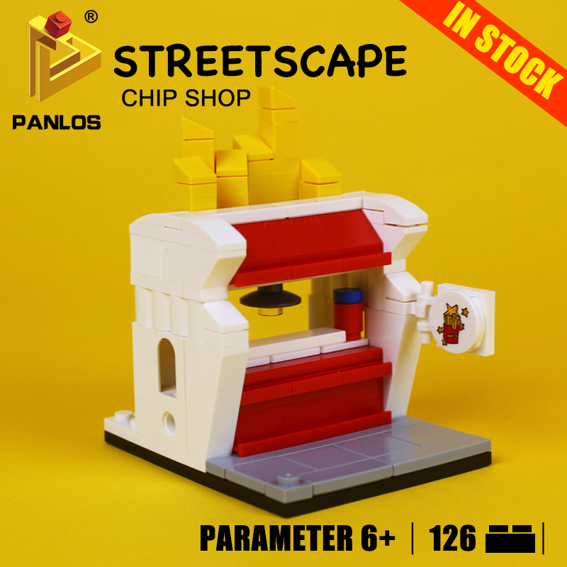 Creative STREETSCAPE CHIP SHOP Model Building Toys hobbies Compatible With lego city Blocks Educational DIY Bricks for kids