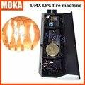 Новый Дизайн профессиональный сценический эффект оборудование 6 угол dmx Огонь Машина LPG 200 Вт Пламени Проектор DMX512 2 Каналов