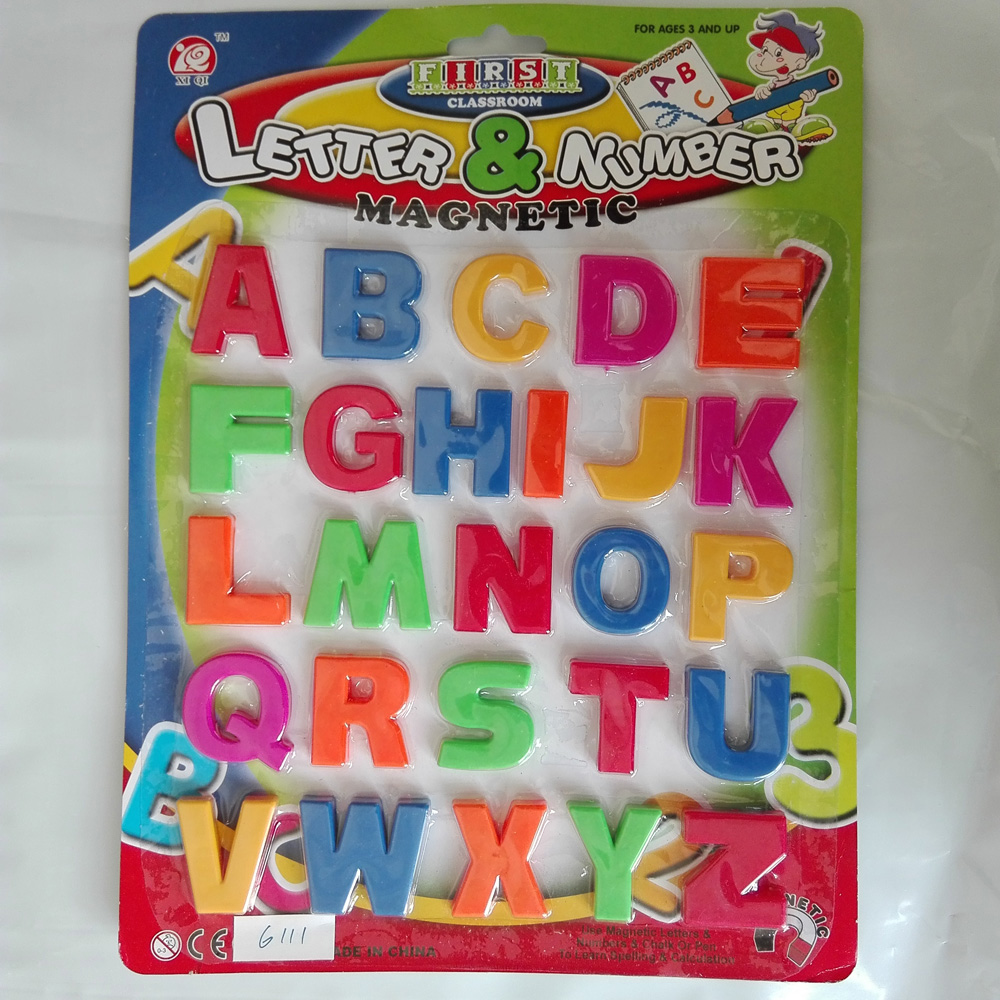 26PCS Colorful ABC Alphabet Magnet Fridge Sticker Plastic Early Baby Learning Educational Toy Word Combination  free shipping