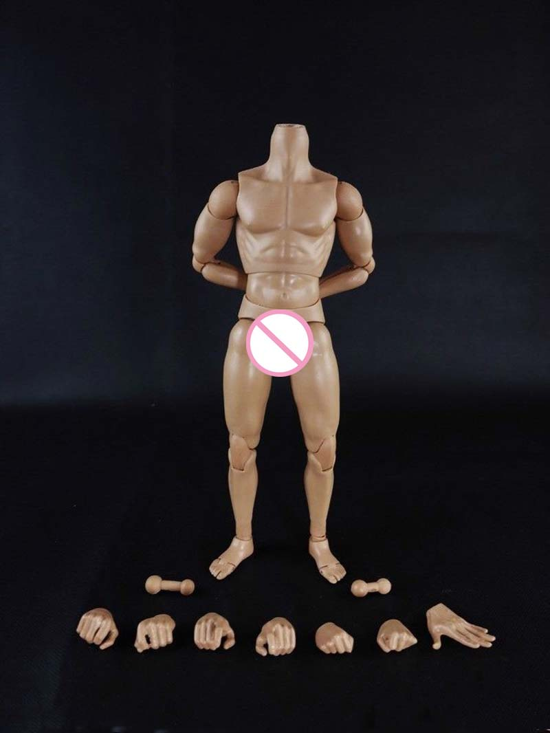 Action figure toys 1:6 Scale Nude Male Body Figure Muscle Man Soldier Model Toys for 12 Action Figure Doll Accessories image
