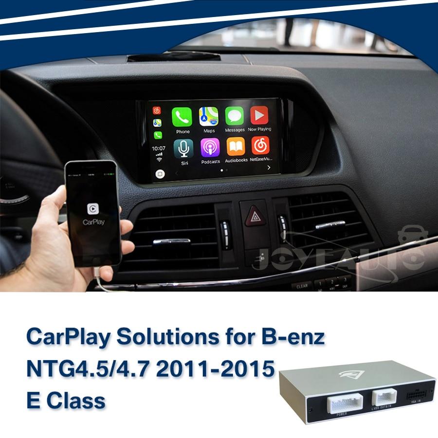 Aftermarket Mercedes Classe E C207 2011-2014 NTG4.5/NTG4.7 Apple Carplay Android Auto boîte Rénovation avec Vue Arrière caméra De Voiture Jouer