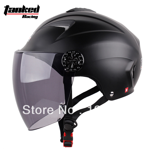 Free shipping!!! 2013 Tanked Racing motorcycle helmet summer helmet Electric Bicycle half face helmet T506 Color-Matte black