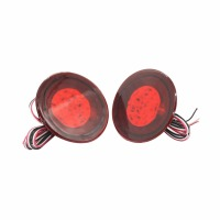 2PCS Red Lens LED Bulbs Car Styling Warning Rear Bumper Reflector Brake Light Stop Fog Lamp