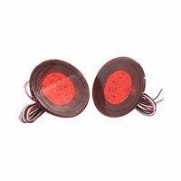 2PCS Red Lens LED Bulbs Car Styling Warning Rear Bumper Reflector Brake Light Stop Fog Lamp