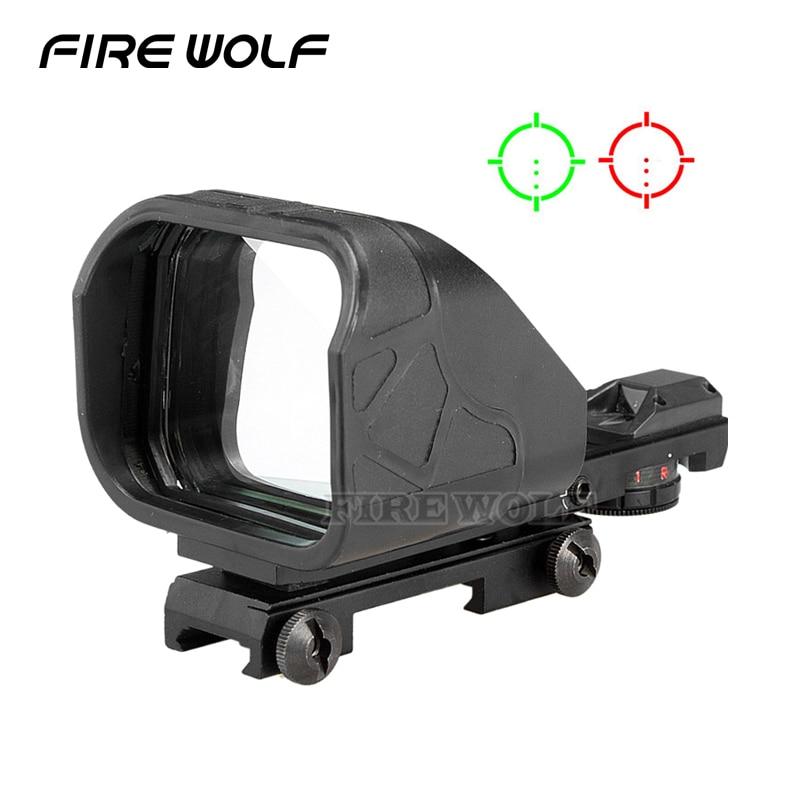 Tactical Scope Hunting Optics Riflescope Holographic Big Red Dot Sight Reflex Reticle Hunting Gun Accessories