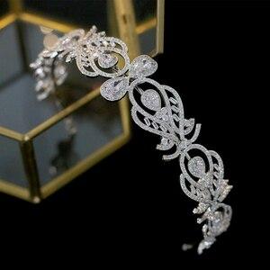 Image 4 - Bandeau daccessoires de cheveux de mariage de couronne de mariée de mode européenne de luxe avec bande de cheveux de bijoux féminins de zircone