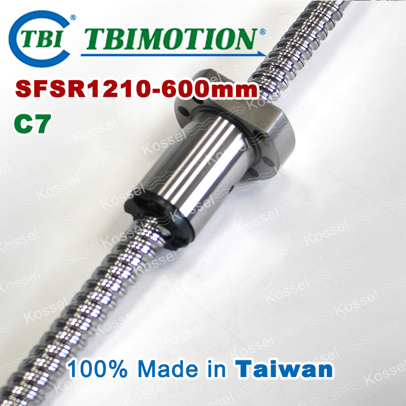 TBI ballscrew 1210 C7 600mm with SFS ball nut SFS1210 + end machined for high stability CNC kit set tbi dfi 2505 600mm ball screw milled ballscrew and end machined for high stability linear cnc diy kit