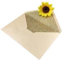 Card Paper-Envelopes Wedding-Invitation Glitter Rose-Gold Burgundy Green Silver White
