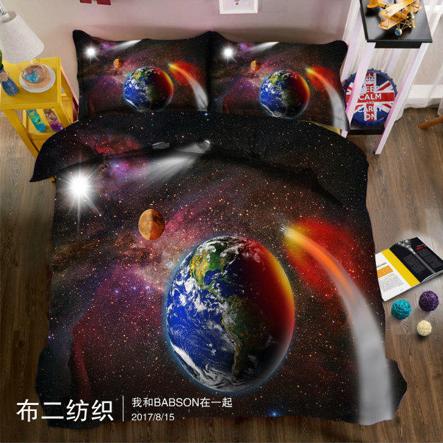 outer space scenery 3D printed Bedding sets Double King Queen Twin size Bed set Soft Bedclothes 4pcs Bed sheet Duvet coverouter space scenery 3D printed Bedding sets Double King Queen Twin size Bed set Soft Bedclothes 4pcs Bed sheet Duvet cover