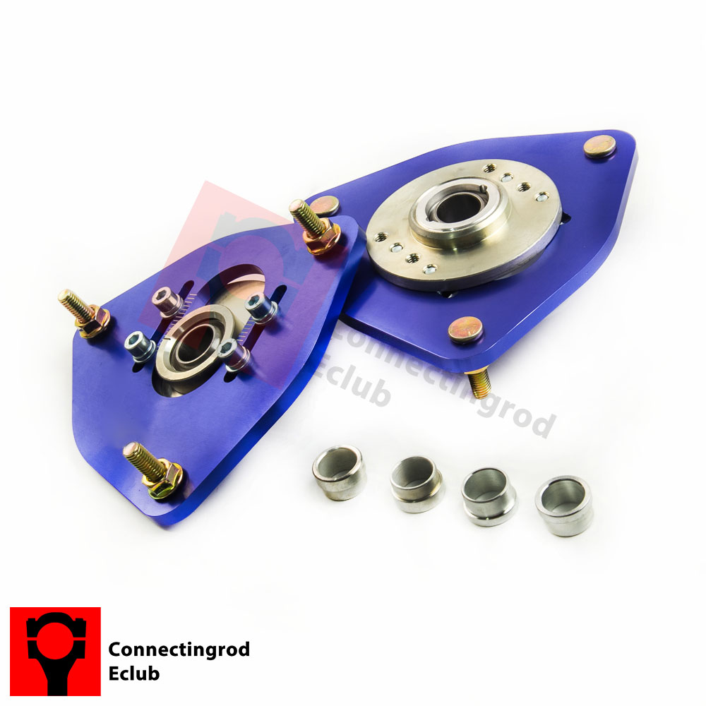Pair Coilover Camber Plate for Subaru Impreza WRX STI Bugeye GDA GDB 02-07 Front Upper Mount Caster Kit Left right = /-2.50 02 03 impreza wrx sti gda gdb gen 7 ju headlights eyebrows eyelids