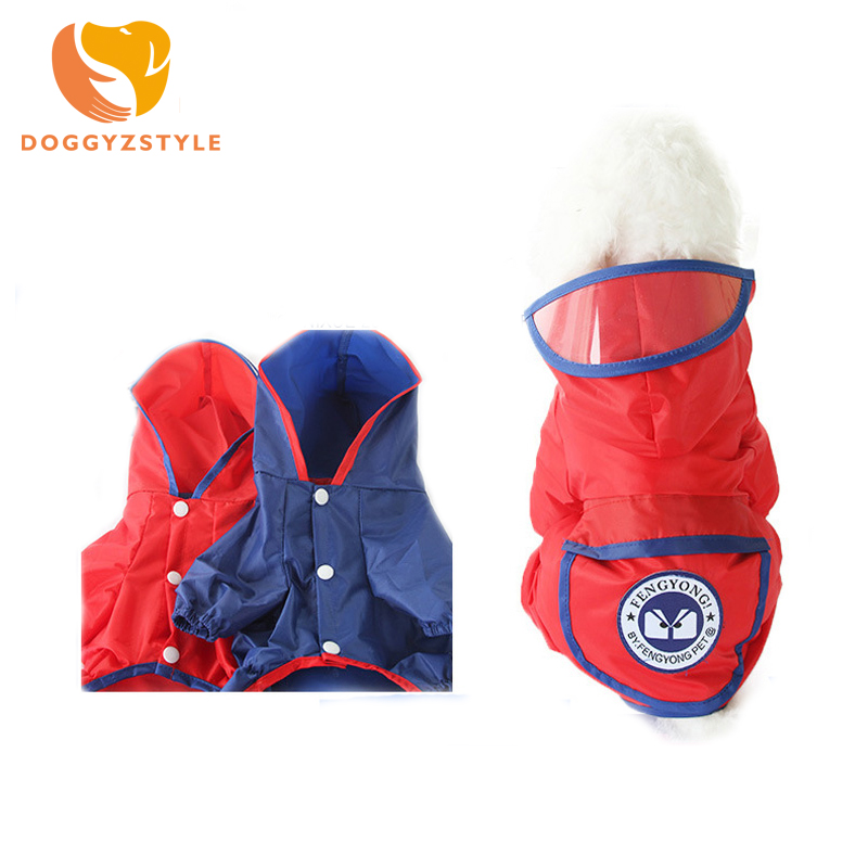 2018 New 6 Colors Summer Small Medium Large Dog Raincoat Puppy Waterproof Clothes Cute Size XS-XXL Size Pet Jumpsuit DOGGYSTYLE