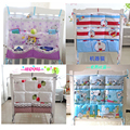 Free Shipping Baby Bed Hanging Storage Newborn Bedside Crib Diaper Bags Toy Pocket Pouch Flowers Buggy Bag Organizer Organizador