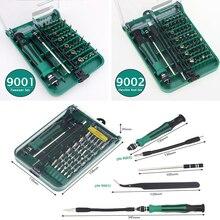 Precision Screwdriver Set 45 In 1 Mini Torx Hex Screw Driver Set Destornillador Tools With Tweezer 9002/9001 Magnetic kit impact