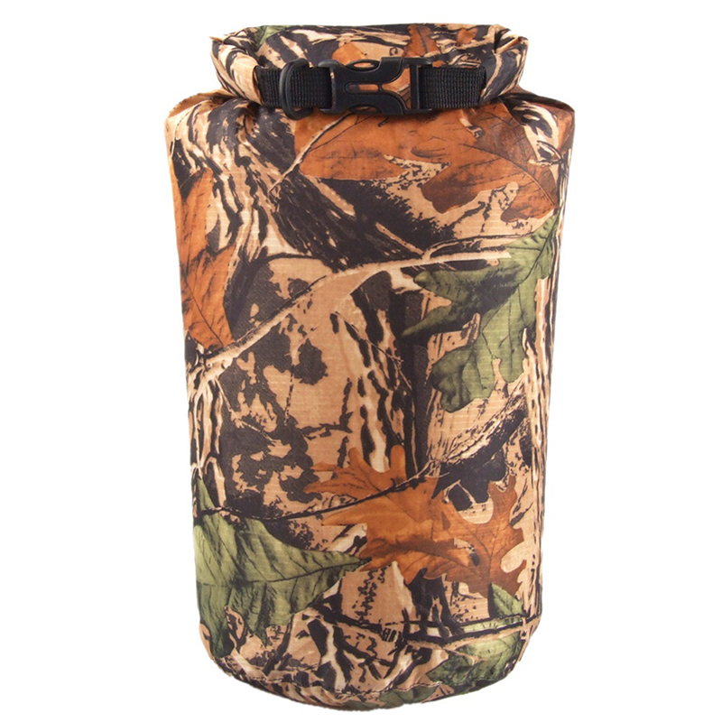 8L WaterProof Bag Camouflage Dry Storage Bag Canoe Kayak Rafting Drifting Camping Climbing Diving Upstream Package