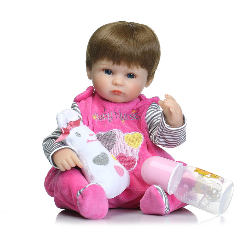 NPK COLLECTION New Reborn Babies Dolls for children Gift 16 Inch 40cm Real baby alive reborn bonecas silicone reborn dolls free shipping hot sale real silicon baby dolls 55cm 22inch npk brand lifelike lovely reborn dolls babies toys for children gift