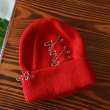 2016 5 Colors pin Male Ms. Hedging Wool Hat Korean fashion Knit Wool Cap skullies M165