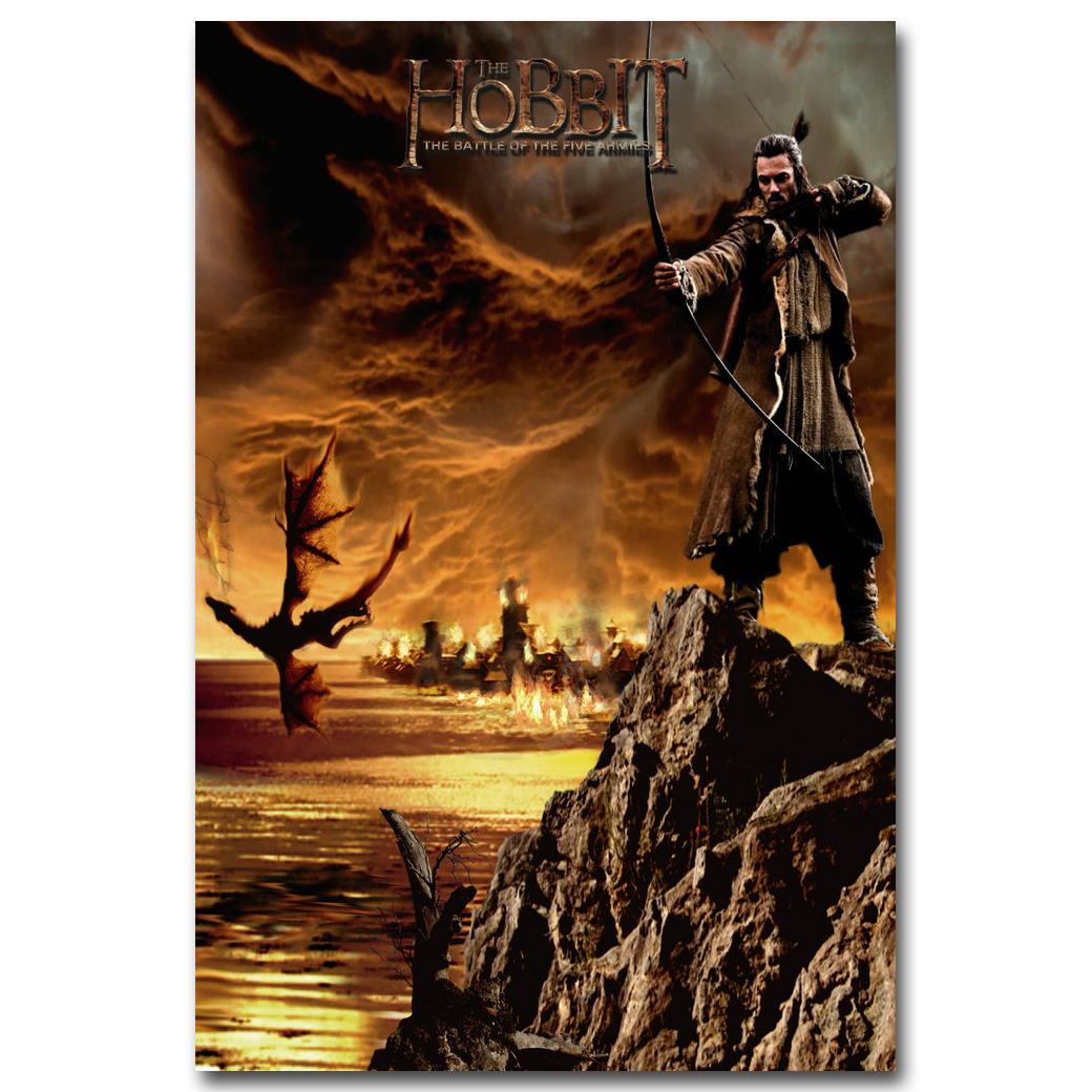 Hobbit 3 The Battle Of The Five Armies Movie Silk Poster 24x36 inches 002