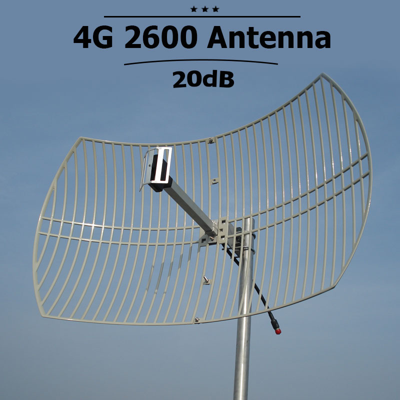 20dBi High Gain 4G LTE 2600mhz Outdoor Cell Antenna Mobile 4G 2600mhz External Mobile Phone Signal Antenna N Connector S32