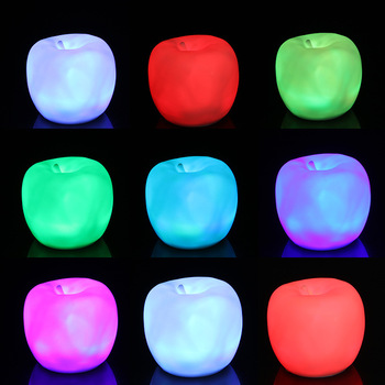 LED Toys Apple Shape Light Christmas/wedding Party Decoration Children's Luminous Toy Glow In The Dark Light Up/Christmas Toys new diy app control multi lingual quick flash led party luminous glasses usb charge christmas concert light toys glow sunglasses