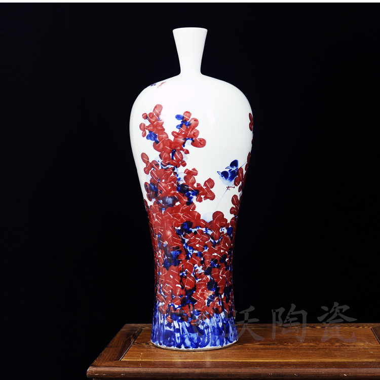Jingdezhen ceramics master hand flower vase color simple for Modern living room vases