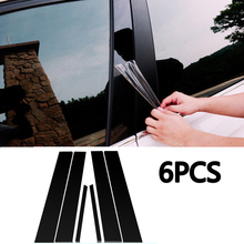 6pcs/Set Window Pillar Posts Cover Trim Mirror Effect For Honda Civic Sedan 2006-2011