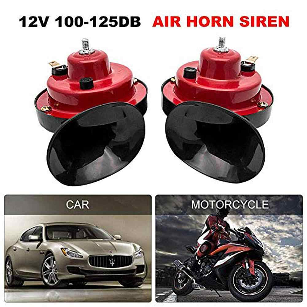 12V Electric Snail Air Horn for Cars Boat 1 Pair of Car Dual-Tone Horn with Bracket Car Snail Horns Motorcycle Truck