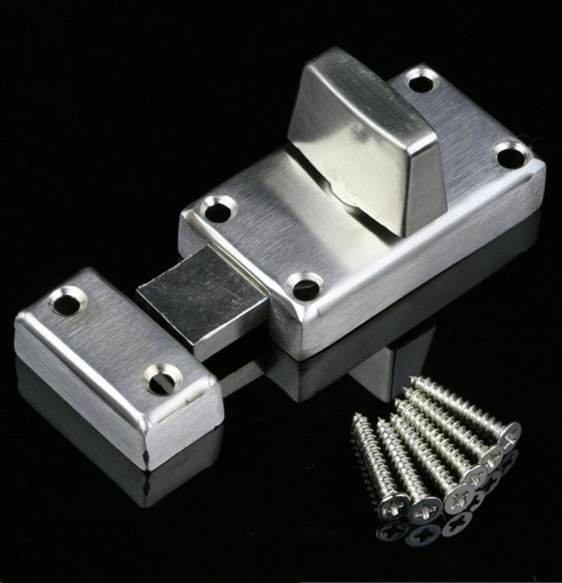 Stainless steel Door Latch buckle thicker widened spring Bolt 2pcs brand new 6 length stainless steel barrel door bolt latches premium safety latch padbolt padlock k202