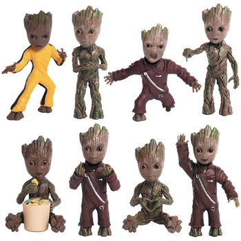2017 Movie Figures Toys Guardians of Galaxy Vol 2 Dancing Tree Man Figuras Brinquedos Keychain Key Bag Pendants Dolls 7.5cm guardians of the galaxy vol 2 baby groot 3