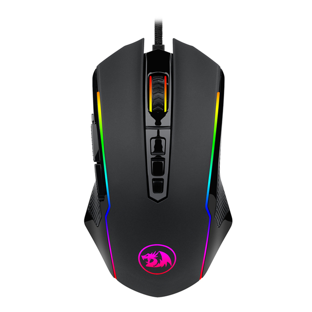 Redragon M910 Chroma Gaming Mouse High-Precision Ambidextrous Programmable Gaming Mouse 7 RGB Backlight Modes 10 Buttons Malaysia