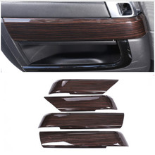 Red Ash Wood Style For Landrover Range Rover Sport RR 2014-2018 ABS Plastic Interior Door Decoration Panel Cover Trim 4pcs