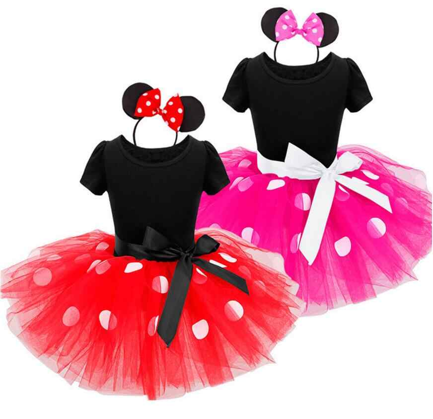 571be859e2 New Child Girls Dresses Minnie Mouse Vampire Party Fancy Costume Cosplay  Girl Ballet Tutu Dress+