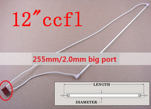 12.1 inch lcd backlight ccfl lamp 255mm*2.0mm with big connecter