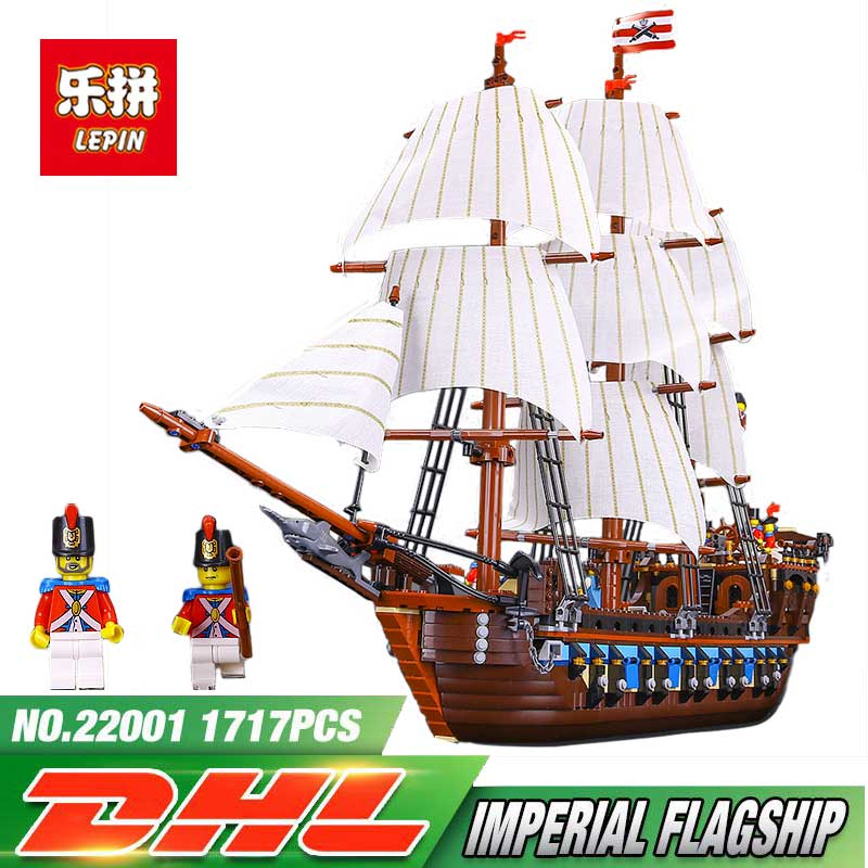 Lepin 22001 Pirates Caribbean Imperial Warships 1717 Pcs LegoINGly Model Sets 10210 Nano Building Blocks Toys For Boy in stock new lepin 22001 pirate ship imperial warships model building kits block briks toys gift 1717pcs compatible10210