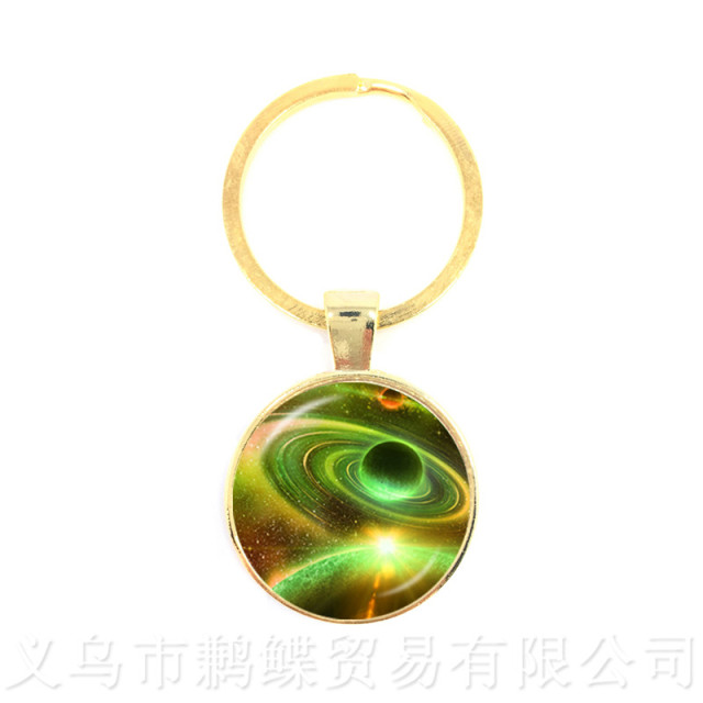 Nebula Space Keychains Astronomy Geek Pendant Sci-fi Science Galaxy Space Glass Dome Keyring Gift For Friends